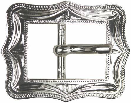 """BS9308-2 SP 5/8"""" Shiny Silver Cart Buckle"""
