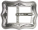 "BS9308-3 SP 3/4"" Shiny Silver Cart Buckle"