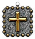"BS9313 SRTPGP 2 1/4"" Cross Square Berry Pendant"