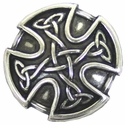 "BS9977 SRTP 1"" ANTIQUE SILVER CELTIC SCREWBACK CONCHO"