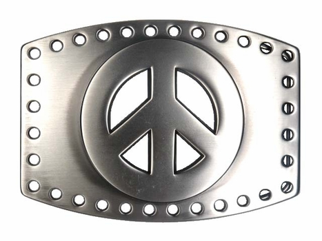 C1650 Peace Sign Buckle