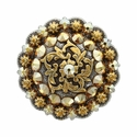 Coloma Gold Swarovski Rhinestone Crystal Berry Concho - Crystal Metallic Sunshine