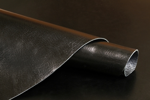 Cowhide Hand Burnished Oil Tanned Black Finished Leather 8-9oz