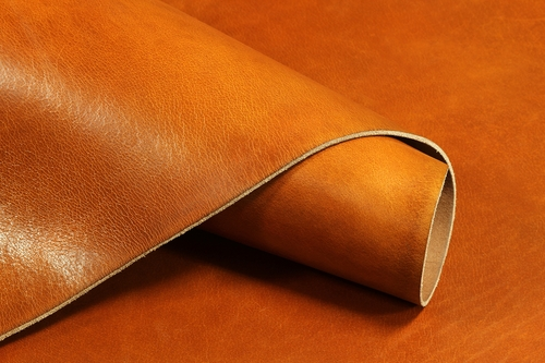 Cowhide Hand Burnished Oil Tanned Tan Finished Leather 8-9oz