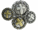 Cross Berry Western Conchos