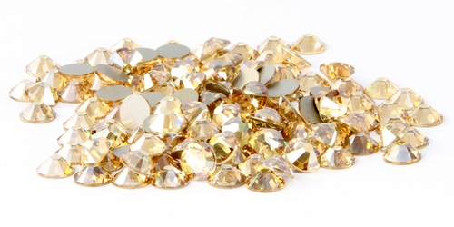 Crystal Golden Shadow  Flatback Rhinestones