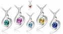 Crystal Love Angel Designer Necklace *Multi-Color*