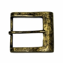 CX-03 Antique Brass Heel Bar Belt Buckle