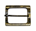 CX-04 Rectangular Antique Brass Heel Bar Belt Buckle