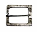 BM-04 Rectangular Antique Silver Heel Bar Belt Buckle