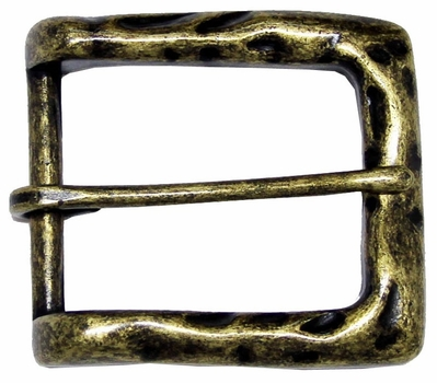 CX-05 Antique Brass Heel Bar Belt Buckle