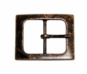 CX-06 Antique Copper Center Bar Belt Buckle