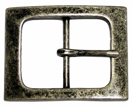 CX-06 Antique Silver Center Bar Belt Buckle