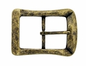 CX-07 Antique Brass Center Bar Belt Buckle