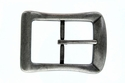 CX-07 Antique Silver Center Bar Belt Buckle