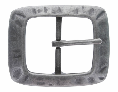 CX-08 Antique Silver Center Bar Belt Buckle
