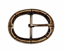 CX-09 Oval Antique Copper Center Bar Belt Buckle