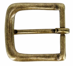 "CX-160 32mm OEB Brass Heel Bar Buckle 1-1/4"" Wide"