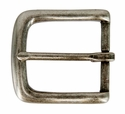"CX-160 35mm ANR Antique Nickel Heel Bar Buckle 1 3/8"" Wide"