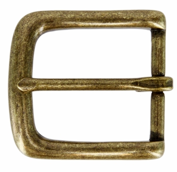 "CX-160 35mm OEB Brass Heel Bar Buckle 1 3/8"" Wide"