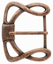 "CX-36 1 1/2"" (38mm) Wide Forged Style Antique Copper Belt Buckle"