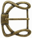 "CX-36 1 1/2"" (38mm) Wide Forged Style Antique Brass Belt Buckle"