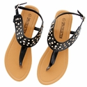 DXS-D19 Black Women Summer Sandals Flip Flops