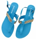 DXS-D23 Blue Women Summer Sandals Flip Flops