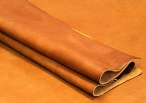 Double Bends Cowhide Leather Weight/10-11 oz Thickness/4.2-4.6mm - Tan