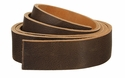 Double Bends Full Grain Thick Leather Strips - Brown