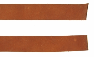 Double Bends Full Grain Thick Leather Strips - Tan