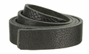 Double Bends Full Grain Thick Leather Strips - Black