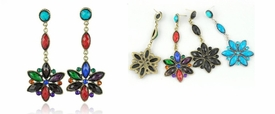 E1043 Star Drop Fashion Earrings *Multi-Color Options*