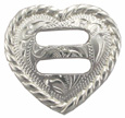 "F9524A-8 SP 1-1/4"" Heart Rope Edge Swirl Slotted Concho"