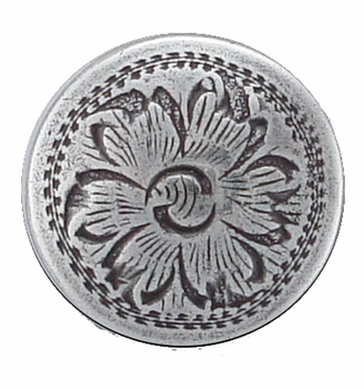 "F9526B LASRP Western Engraved 5/8""  Ant. Silver Concho"