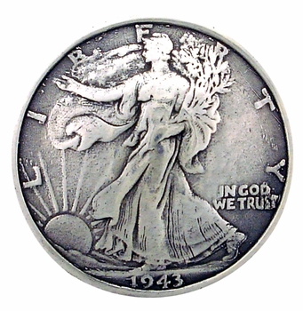F9547-A SRTP 1 1/4'' WALKING LIBERTY HALF DOLLAR COIN REPRODUCTION CONCHO