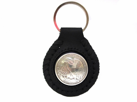 F9547B Coin Concho Key Fob Ring