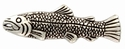 F9650-1 LASRP Antique Silver Screw Back Fish Concho