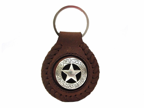 F9704 SRTP Star Concho Key Fob Ring