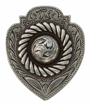 "FA4833 LASRP Antique Silver Badge Concho 1 1/2"" x 1 1/4"""