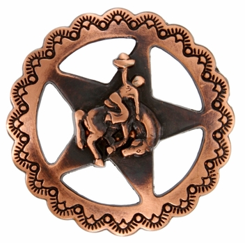 "FA4835-3 SVCRB Star Bronco Rider Concho 1-1/4"" Copper"