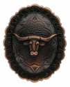 "FA4838 SVCRB Copper Longhorn Oval Concho 1-1/2"" by 1-1/4"""