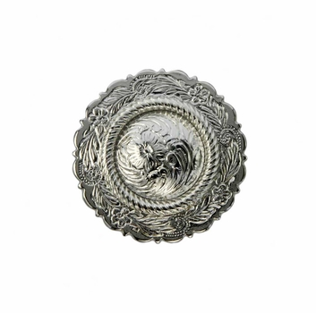 """FA4863-1 SP Sterling Silver Plated Center Rope Concho 1"""""""