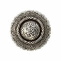 FA4863-2 LASRP Antique Silver Center Rope Concho 1 1/4""