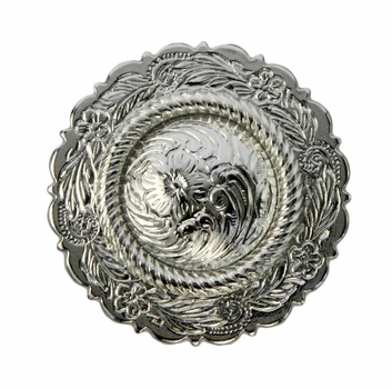 FA4863-3 SP Sterling Silver Plated Center Rope Concho 1 1/2""