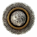 FA4863-4 ASAG Antique Silver and Gold Center Rope Concho 1 3/4""