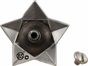 FA5029 LASRP Antique Silver Star Windrose Concho 1""