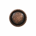 FA5053-1 SVCRB Copper Rope Edge Flower Engraved Concho 3/4''