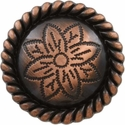 FA5053-5 SVCRB Copper Rope Edge Flower Engraved Concho 1-3/4''