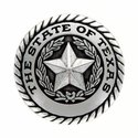 FA5320 LASRP State of Texas Antique Silver Rope Edge Star Concho - 1''